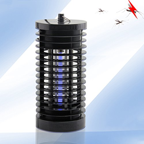 Bug Zapper Electronic Insect Killer LESHP Powerfu Light-Control Electric Mosquito Fly Bug Killer Fly Zapper Mosquito Killer with Trap Lamp for Standing or Hanging Indoor or OutdoorBlack