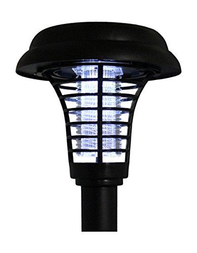 BlueDot Trading LED Solar Pathway Lights UV Light Bug Zapper in One Set of 2