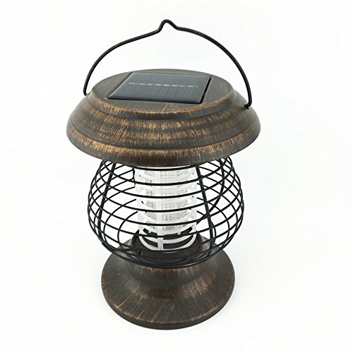 Solar Powered UV Bug Zapper Insect Killer LED Garden Lamp Mosquito Killer camping light