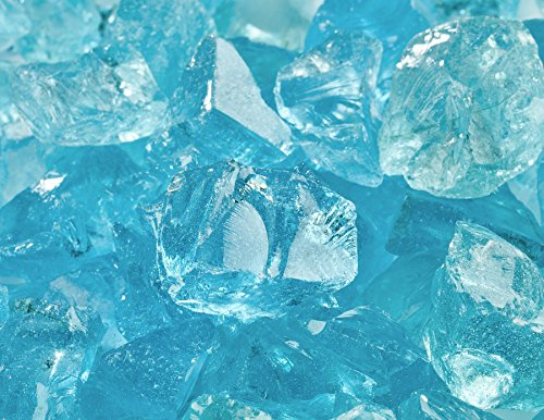 12&quot - 34&quot Crushed Fire Glass For Indoor Or Outdoor Fire Pit Or Fireplace 10 Pounds teal Lagoon