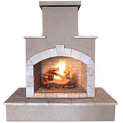 Cal Flame Fire FRP-908 55000 BTU Gas Outdoor Fireplace