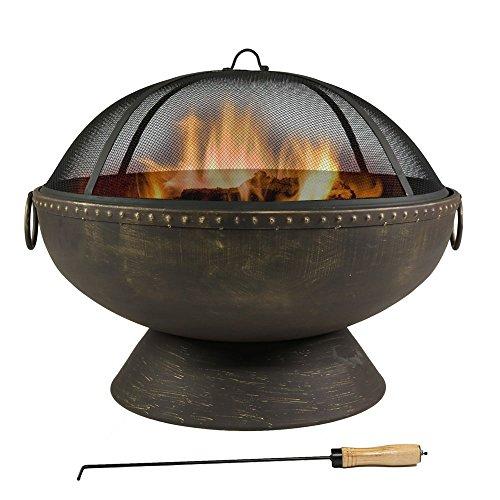 Sunnydaze Firebowl Fire Pit With Handles 30 Inch Diameter