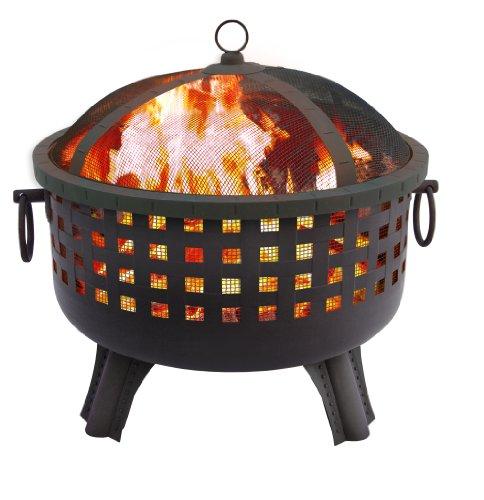 Landmann 26364 23-12-inch Savannah Garden Light Fire Pit Black