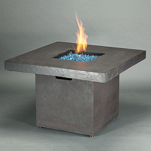 Brixton Square Propane Fire Table - Urban Brown