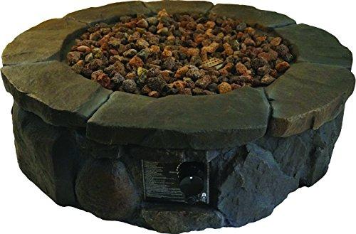 Bond 50000 Btu Caswell Outdoor Envirostone Gas Fire Pit