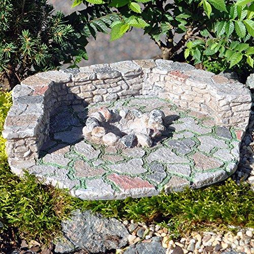 Miniature Fairy Garden Outdoor Stone Fire Pit Pad