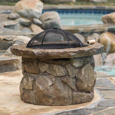Winnett Glass Fiber Fire Pit Natural Stone