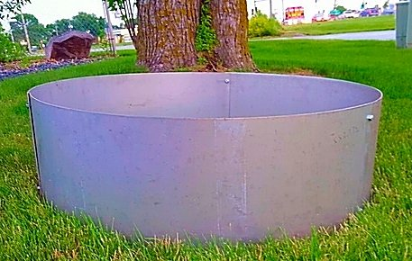 Stainless Steel Fire Pit Liner - Campfire Ring-36&quot X 12&quot