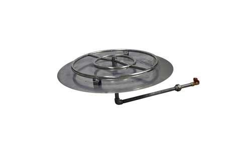 MLFPK24 24in Flat Pan Match Lit Firepit Insert