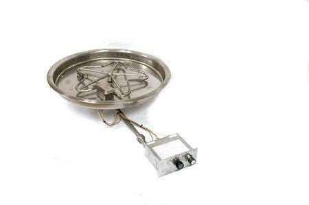 PENTA25FPPK 25in Bowl Pan with Penta Burner Manual SparkFlame Sensing Firepit Insert