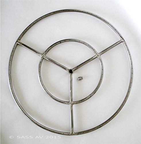 Fire Pit Ring 27 Diameter Stainless Steel Burner Ring