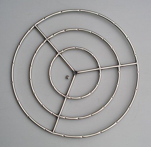 Fire Pit Ring Triple Ring 30 Diameter Stainless Steel Burner Ring