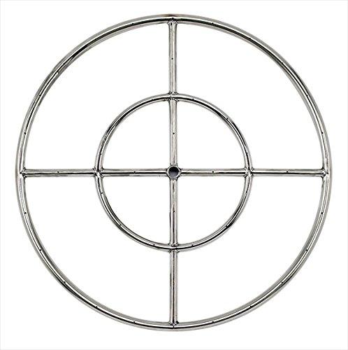 Stainless Steel Fire Pit Burner Ring 24&quot Diameter Double Burner