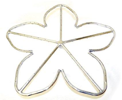 HPC 18 Inch Penta Stainless Steel Firepit Burner Ring - NG Model
