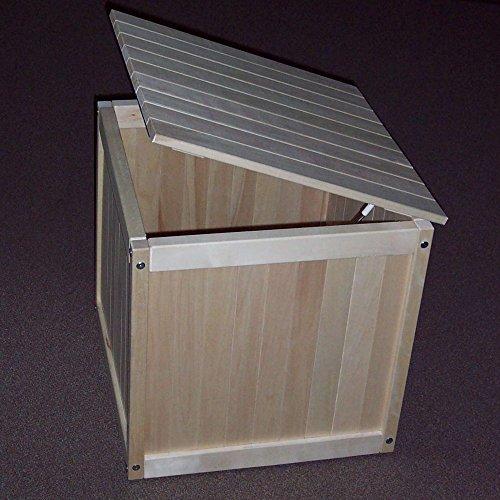 Prairie Leisure Classic 25 in Outdoor Wood Storage Cube