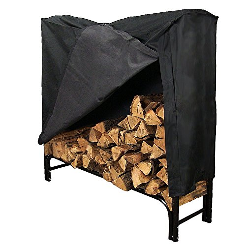 Sunnydaze 4-foot Firewood Log Rack With Cover