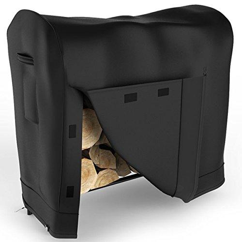 Elite Flame 4 Foot Indoor Outdoor Black Water Resistant Firewood Log Rack Cover