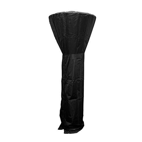 Vosarea Outdoor Heater Cover Waterproof Patio Heater Cover for Home Outdoor Garden Courtyard Black Umbrella-Type 84x221cm