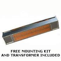 Sunpak - 12002-2 - S34 Natural Gas Outdoor Hanging Patio Heater - Aluminized Black Finish - 34k Btu