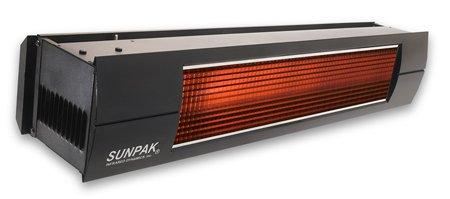 Sunpak S 34 34000 BTU Hanging Patio Heater - Black - Natural Gas NG - Black Front Fascia Kit - Plus Free Sunpak eGuide