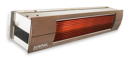 Sunpak S 34 S 34000 BTU Hanging Patio Heater - Stainless Steel - Natural Gas NG - Bronze Front Fascia Kit - Plus Free Sunpak eGuide