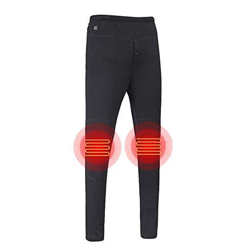 JennyBen Mens Winter USB Electric Pants Warm Trousers Outdoor Heating Trousers Sweatpants Black_4XL_F