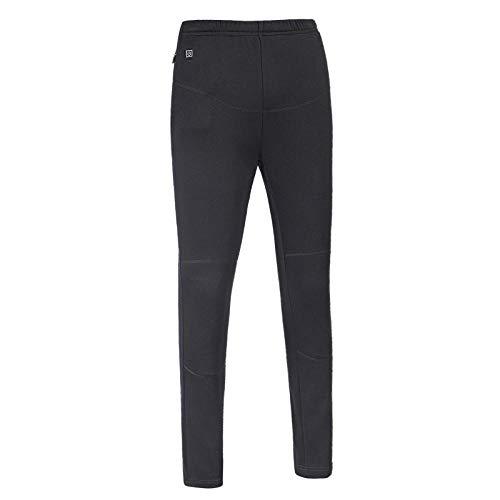 JennyBen Ms Winter USB Electric Pants Warm Travel Trekking Pants Outdoor Heating Trousers Sweatpants Black_M 160_C