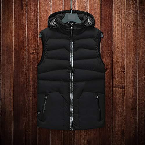 Outdoor heating suit mens heating vest - insulated lightweight electric warm vest - USB lightweight heating vest rechargeable - mens heating electric vest winter ski hiking motorcycleBlackXL