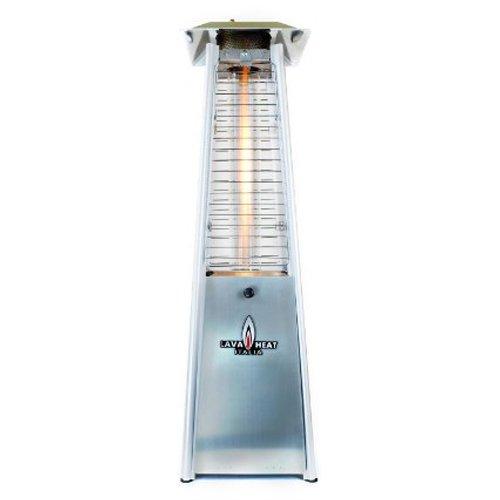 Lava Heat Italia Tabletop Propane Patio Heater Mini 21000 Btu Stainless Steel