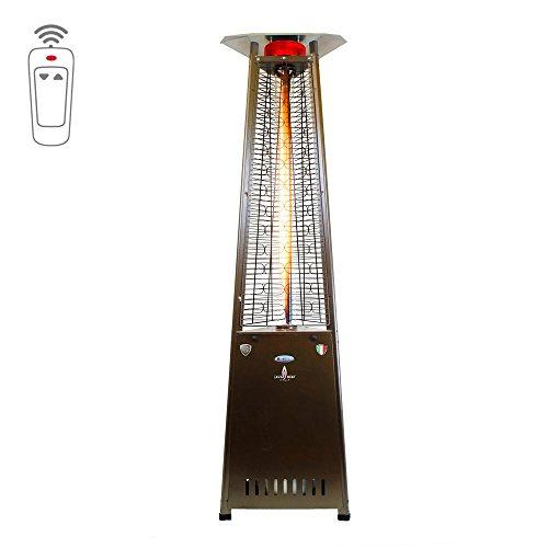 Lava Heat Italia Triangular 8 Ft Commercial Flame Patio Heater With Remote Lhi-129 - Heritage Bronze - Propane