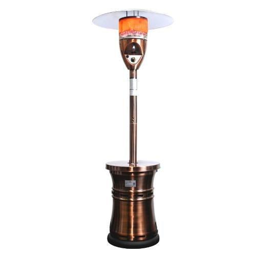 Lava Heat Italia Patio Heater Alto Propane 48000 Btu Brushed Copper