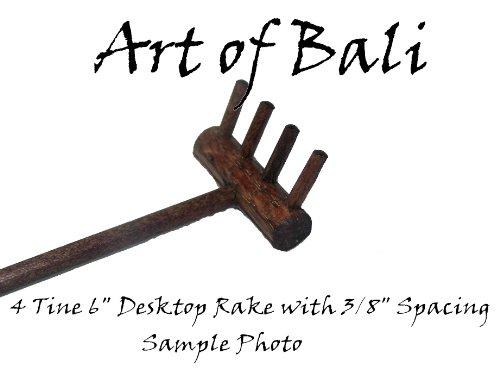 Art of Bali Zen Garden Rake Four Tine Desktop Rake - Zen Gardens