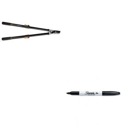 KITFSK91686935JSAN30001 - Value Kit - Fiskars Telescoping Power-Lever Bypass Lopper FSK91686935J and Sharpie Permanent Marker SAN30001