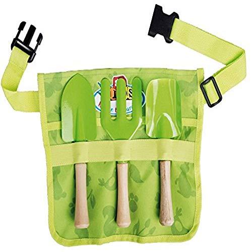 Esschert Design USA KG108 Childrens Garden Apron with Tools Green