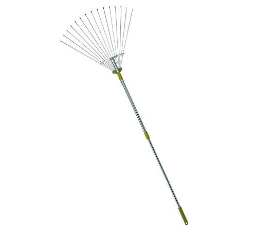 Mltools&reg 64-inch Adjustable Garden Leaf Rake - Flat Tine Adjustable Steel Rake With Extendable Handle R8236 -