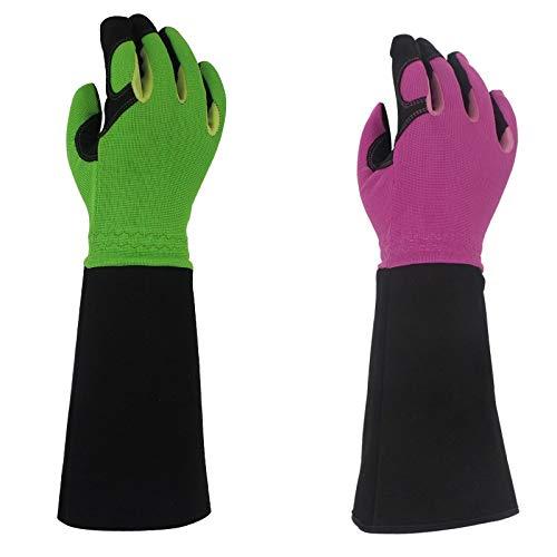 YIBANG-DZSW Rose Pruning Gloves for Men Women Long Thorn Proof Gardening Gloves Best Garden Gifts Tools for Gardener 1 Pair Size  L