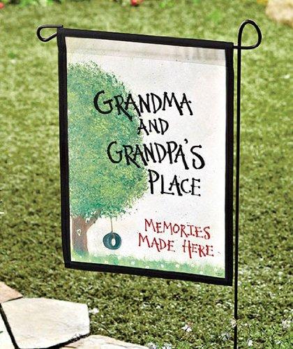 Garden Flag Grandma Grandpas Place 18 x 115 Great gift for the grandparents - Gifts for Grandma - Gift for Grandpa