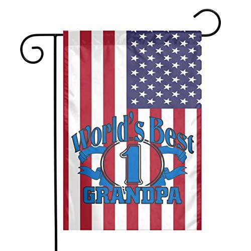 Worlds Best Grandpa Garden Flag Great Party Decor For CelebrationFestivalHomeOutdoorGarden Decorations 12 X 18 Inch