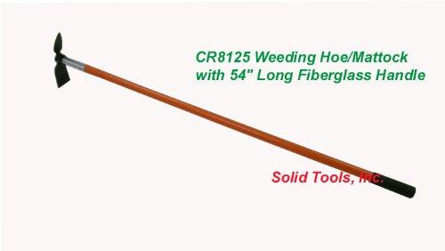 Weeding Hoe-mattock With 54&quot Long Fiberglass Handle