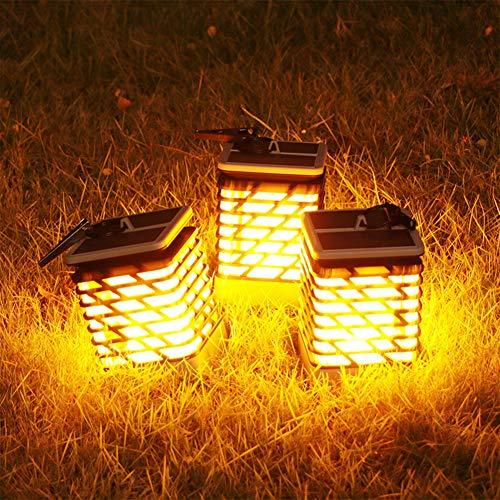 XuBa Outdoor Waterproof Solar Led Flame Lamp for Garden Landscape Path Decoration