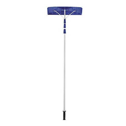 Snow Joe RJ204M 21 Twist-n-Lock Telescoping Snow Shovel Roof Rake with 6 by 25 Poly Blade