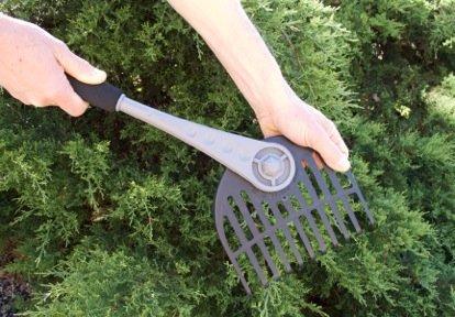 Garden Hand Rake- The Rake-Away Adjustable Fan Rake for Leaves Clippings and Spreading Mulch