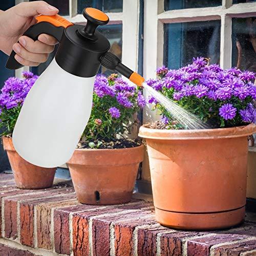 AUNMAS Manual Press Watering Bottle 1L Plastic Flowers Plants Watering Can Sprinkle Pot for Indoor Outdoor Garden Tool 106 x 85 in