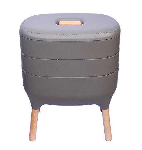 Urbalive Indoor Worm Farm - Organic Compost Vermicomposter Chic European Design Anthracite