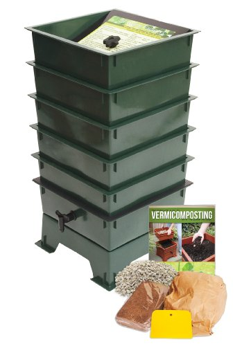 Worm Factory DS5GT 5-Tray Worm Composter Green