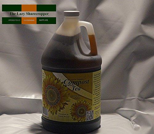 100% Organic Worm Compost Tea With Bat Guano & Molasses 1 Gallon