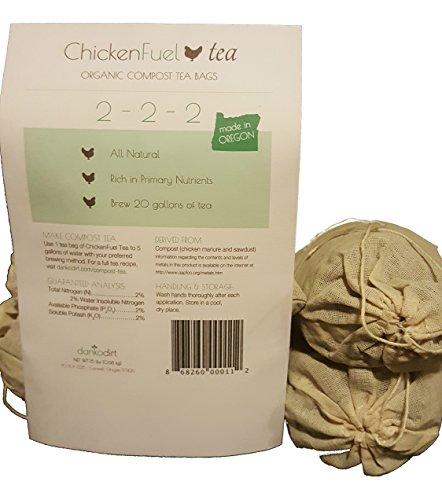 Chickenfuel Tea: Four 6 Oz Organic Compost Fertilizer Tea Bags