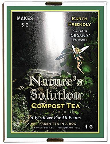 Nature's Solution Ntcomteag Organic Compost Tea Fertilizer, 1 Gallon