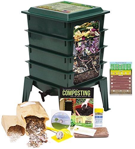 Worm Factory 360 Worm Composting Bin  Bonusquotwhat Can Red Wigglers Eat&quot Infographic Refrigerator Magnet green