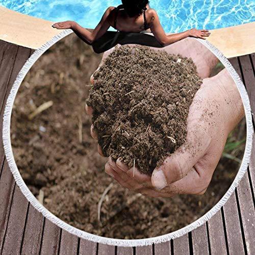 Jiahong Pan Soft Beach Towel Compost Soil Organicfertilizer On for Platation Perfect for The Beach 59 Inch Diameter